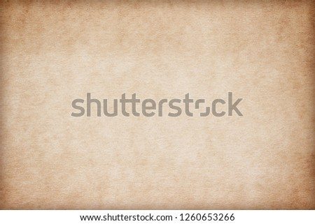 Old Paper texture. vintage paper background or texture; brown paper texture #1260653266