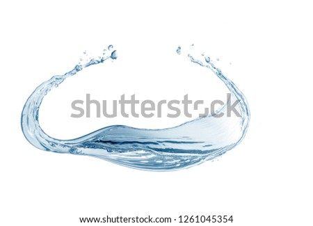 Water,water splash isolated on white background  #1261045354