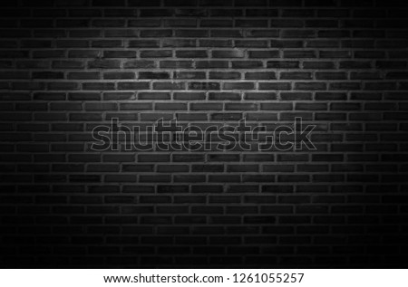 Black wall texture background The surface of the brick dark jagged. or abstract black wall background #1261055257