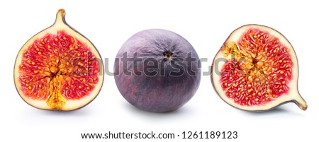 Figs fruits isolated on white background. Figs collection #1261189123