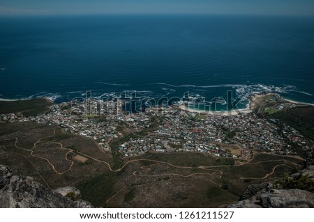 View from Table Mountain - Cape Town - South Africa #1261211527