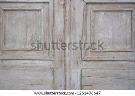 Background texture gray old board in the daytime #1261496647