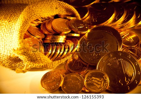 background with gold of coins