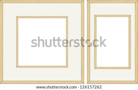 Wooden frames. Raster version, vector file available in portfolio. #126157262