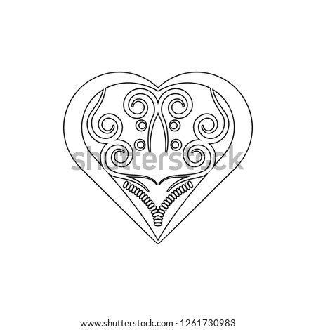 heart ornament icon. Element of ornaments for mobile concept and web apps icon. Thin line icon for website design and development, app development #1261730983