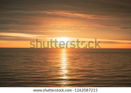 Sunset in Kara Sea #1262087215