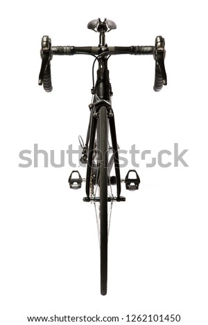 Road bike front view on white background. #1262101450