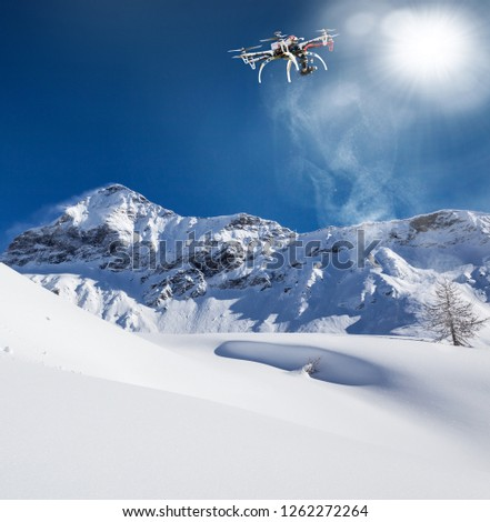 Valmalenco (IT) - Flight with drone in fresh snow #1262272264