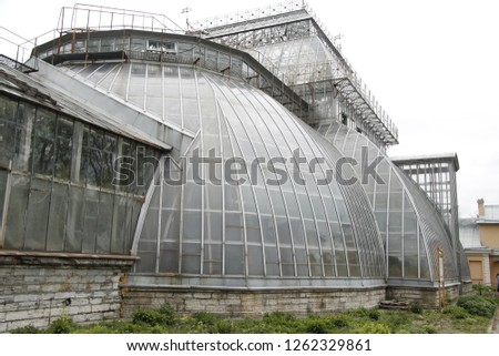 the interesting architecture of the Conservatory #1262329861