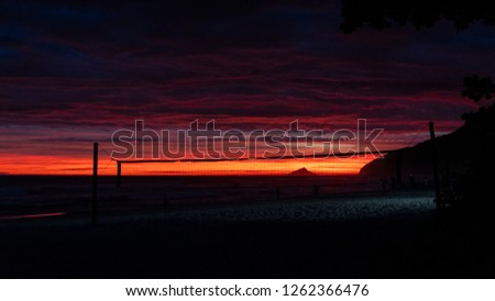 Sunset in the beach #1262366476