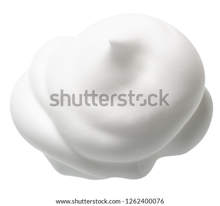 foam mousse for hair on white background isolation #1262400076