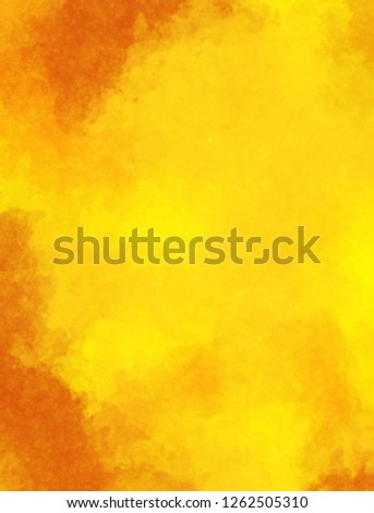 Watercolor paper background. Abstract Painted Illustration. Brush stroked painting. #1262505310