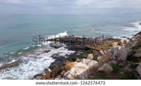 Mediterranean Sea south coast #1262576473