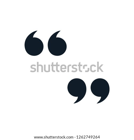 Quote icon vector in trendy template Royalty-Free Stock Photo #1262749264
