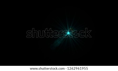 Bright Cyan Lens Flare #1262961955