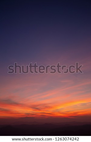 Sunset with Colorful dramatic sky in the countryside #1263074242
