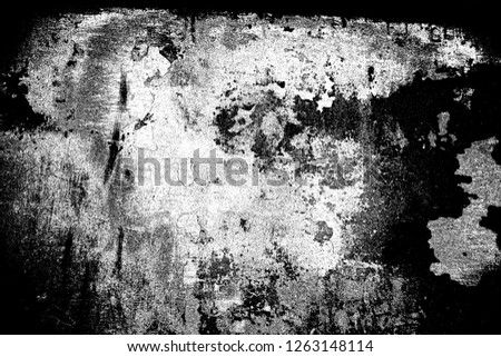 Abstract background. Monochrome texture. Image includes a effect the black and white tones. #1263148114