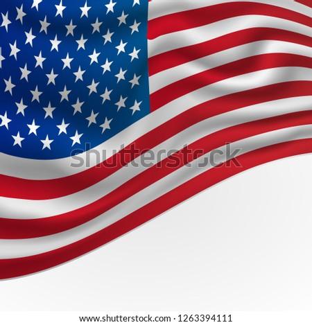 America or USA Flag Background Illustration #1263394111