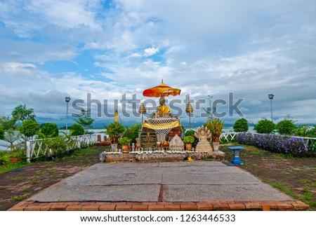 Tilok Aram temple in Kwan Phayao lake, Thailand. - Image #1263446533