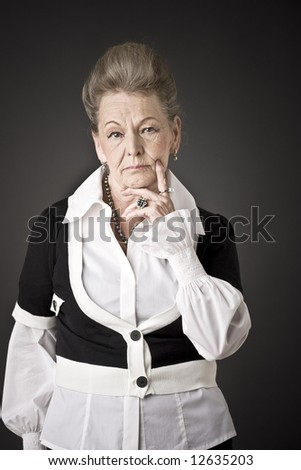 Fashion portrait of a senior lady #12635203