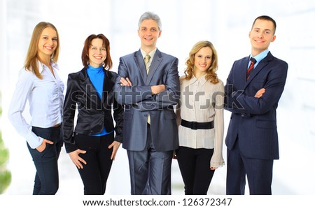 A group of business people in the office. #126372347