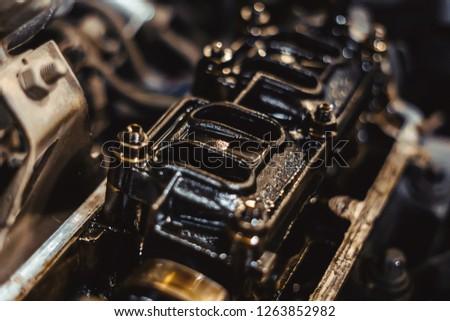 engine valve in oil #1263852982