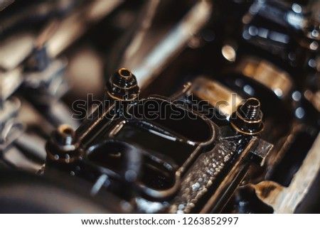 engine valve in oil #1263852997