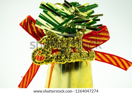 Decorative bells for Christmas tree #1264047274