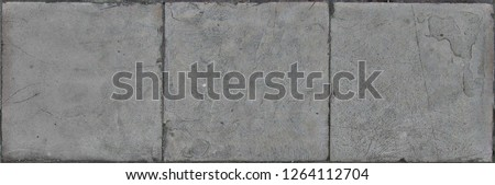 Paving stone texture, flat stone or brick used to make a hard su #1264112704