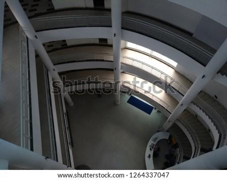 the architecture interior and exterior of Gadjah Mada University in Yogyakarta, Indonesia. 16 December 2018 #1264337047