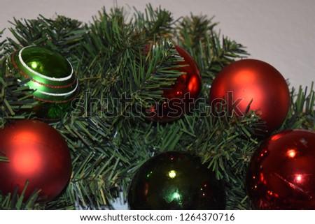 Christmas wreath closeup #1264370716