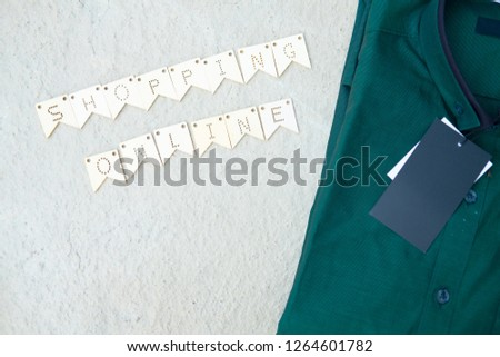 Alphabet letters shopping online. Conceptual of shopping online in website #1264601782
