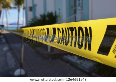 Caution, yellow line #1264681549