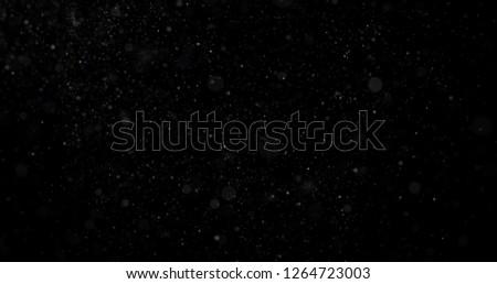 Snowfall on a black background #1264723003