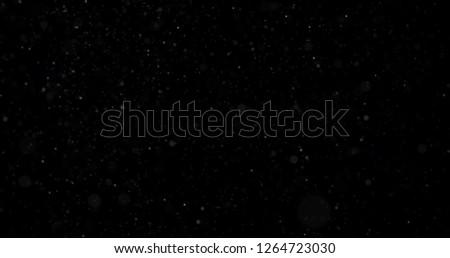 Snowfall on a black background #1264723030