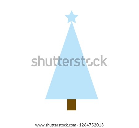 vector Christmas tree on a white background #1264752013