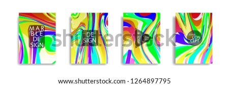 The abstract texture of brightly colored liquid paint. vector cover book with marble color on eps 10 #1264897795