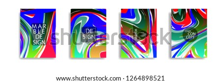 The abstract texture of brightly colored liquid paint. vector cover book with marble color on eps 10 #1264898521