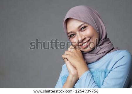 Portrait of hijab Asian  #1264939756