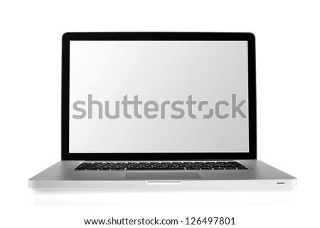 Laptop isolated on white background #126497801