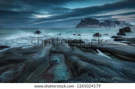 Lofoten island winter 2018. #1265024179