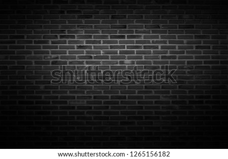 Black wall texture background The surface of the brick dark jagged. or abstract black wall background #1265156182