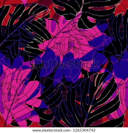 Beautiful seamless floral pattern background. #1265304742