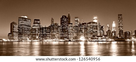 Aerial view of Manhattan, New York City. USA. #126540956
