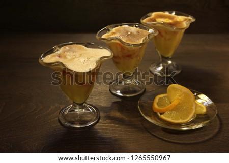 Orange Sabayon with grapefruit. #1265550967