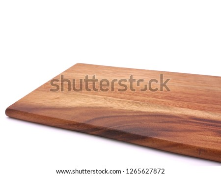 Wooden chopper board with blank space for text isolated on white background #1265627872
