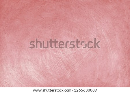 aluminium texture background with rose gold color, pattern of scratches on stainless steel. #1265630089