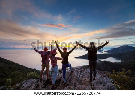 People in hike in the mountains #1265728774