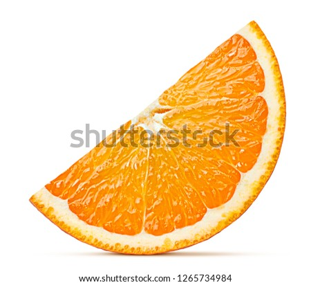 orange slice isolated on white background, clipping path, full depth of field #1265734984