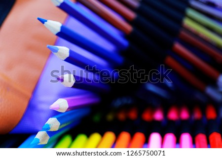 pencils color or Crayons of different colors #1265750071